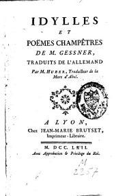 Idylles et poèmes champêtres