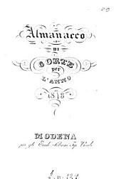 Almanacco della R. Corte e degli stati estensi: 1843