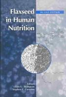 Flaxseed in Human Nutrition  Second Edition PDF