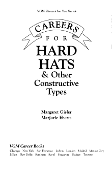 Careers for Hard Hats   Other Constructive Types PDF