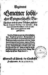 Regiment gmeiner loblicher Eydgnoschafft: beschrieben und in zwei Bücher gestelt