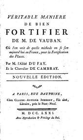 Véritable manière de bien fortifier de M. de Vauban