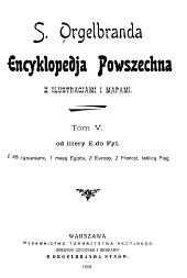 Encyklopedja Powszechna: Tom 5