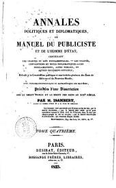Annales politiques et diplomatiques, ou Manuel du publiciste et de l'homme d'ètat ... Par M. Isambert ... Tome 1.er [- quatrième]: Volume4