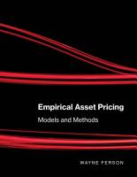 Empirical Asset Pricing PDF