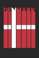 Vintage Denmark Notebook - Retro Denmark Planner - Danish Flag Diary - Denmark Travel Journal