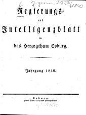 Regierungs- und Intelligenzblatt für das Herzogtum Coburg: 1849