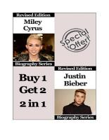 Celebrity Biographies   The Amazing Life Of Miley Cyrus and Justin Bieber   Famous Stars PDF