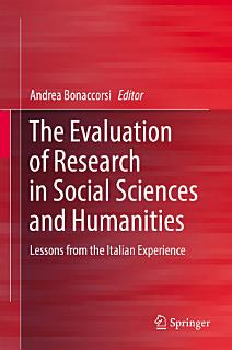 The Evaluation of Research in Social Sciences and Humanities Book