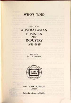 Australasian Business and Industry