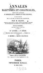 Annales maritimes et coloniales: Volume31;Volume33