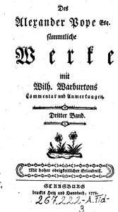 S  mmtliche Werke mit Wilh  Warburtons Commentar und Anmerkungen PDF