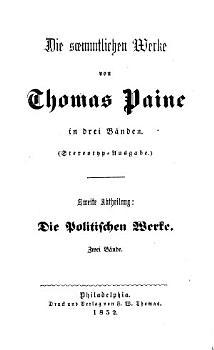 Die politischen Werke von Thomas Paine PDF