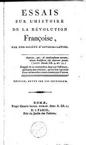 Essais sur l'histoire de la révolution françoise