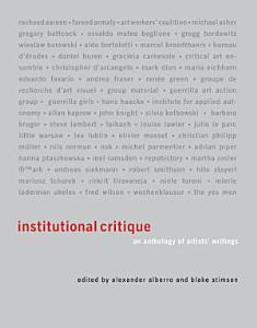 Institutional Critique PDF