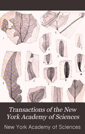 Transactions of the New York Academy of Sciences: Volumes 12-13