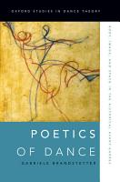 Poetics of Dance PDF