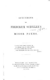Specimens of F. Schiller's Minor Poems. [Translated by S. R. i.e. Samuel Robinson.]