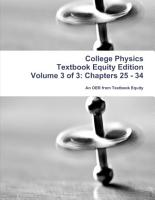College Physics Textbook Equity Edition Volume 3 of 3  Chapters 25   34 PDF