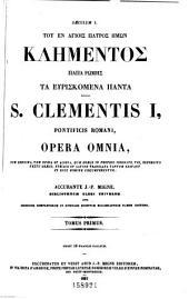 Patrologiæ cursus completus: seu, Bibliotheca universalis, integra, uniformis, commoda, oeconomica omnium SS. patrum, doctorum, scriptorumque ecclesiasticorum. Series græca, Volume 1