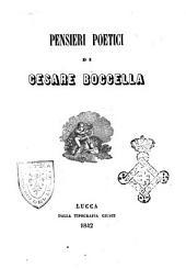 Pensieri poetici di Cesare Boccella