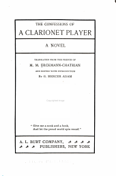The Confessions of a Clarionet Player: A Novel