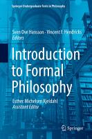 Introduction to Formal Philosophy PDF