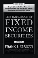 The Handbook of Fixed Income Securities  Ninth Edition PDF