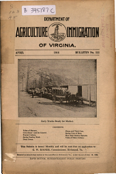 Bulletin - Virginia Department of Agriculture and Immigration: Issue 111