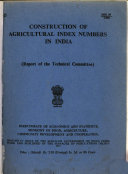 Construction of Agricultural Index Numbers in India PDF
