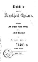 Sybilla gegen die Krankheit Cholera PDF