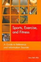 Sports  Exercise  and Fitness PDF