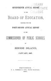 Annual Report of the State Board of Education: Volume 17, Part 1886