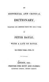 An Historical and Critical Dictionary: Volume 2