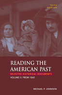 Reading The American Past  Volume II  From 1865