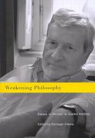 Weakening Philosophy PDF