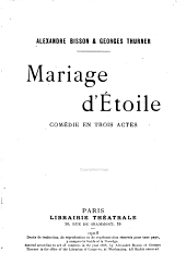 Mariage d'étoile: comédie