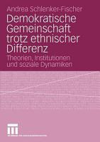 Demokratische Gemeinschaft trotz ethnischer Differenz PDF