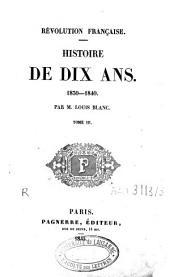 Histoire de dix ans: 1830-1840, Volume3