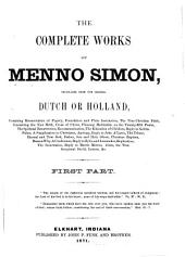 The Complete Works of Menno Simons