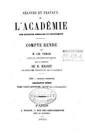 Séances et travaux de l'Académie des sciences morales et politiques, compte rendu: Volumes47à48