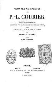 Oeuvres complètes de P. L. Courier: Volume3