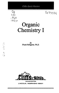 CliffsQuickReview Organic Chemistry I Book