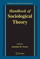 Handbook of Sociological Theory PDF