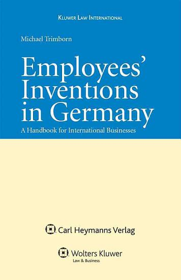 Employees  Inventions in Germany PDF
