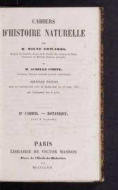 Cahiers d'histoire naturelle: 2e cahier - botanique