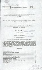 Volunteer Pilot Organization Protection Act of 2006