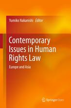 Contemporary Issues in Human Rights Law PDF