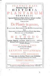 Historia plantarum generalis: Volume 1