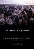 Such Freedom  If Only Musical PDF